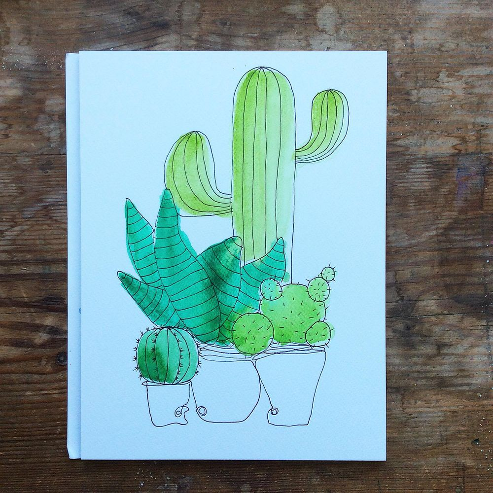 Cacti pattern - image 1 - student project