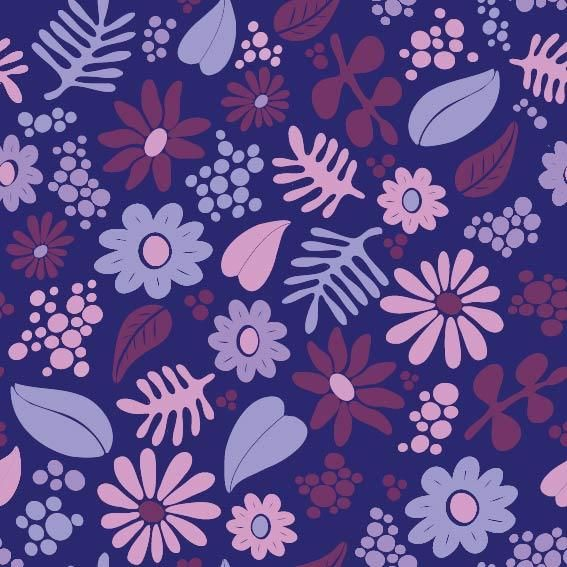 Whimsical Floral Pattern - image 3 - student project