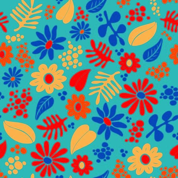 Whimsical Floral Pattern - image 2 - student project