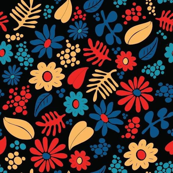 Whimsical Floral Pattern - image 1 - student project