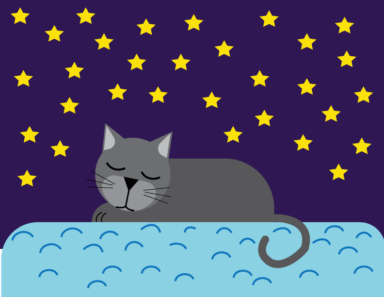Sleeping Cat - image 1 - student project