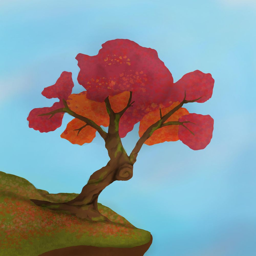 Colourful tree - image 1 - student project