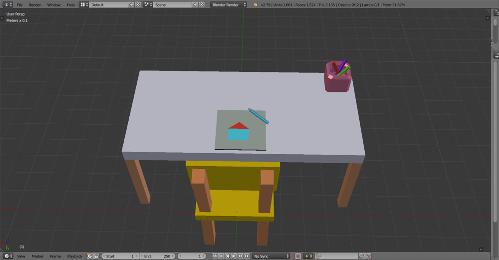 Kindergarden chair and table - image 1 - student project
