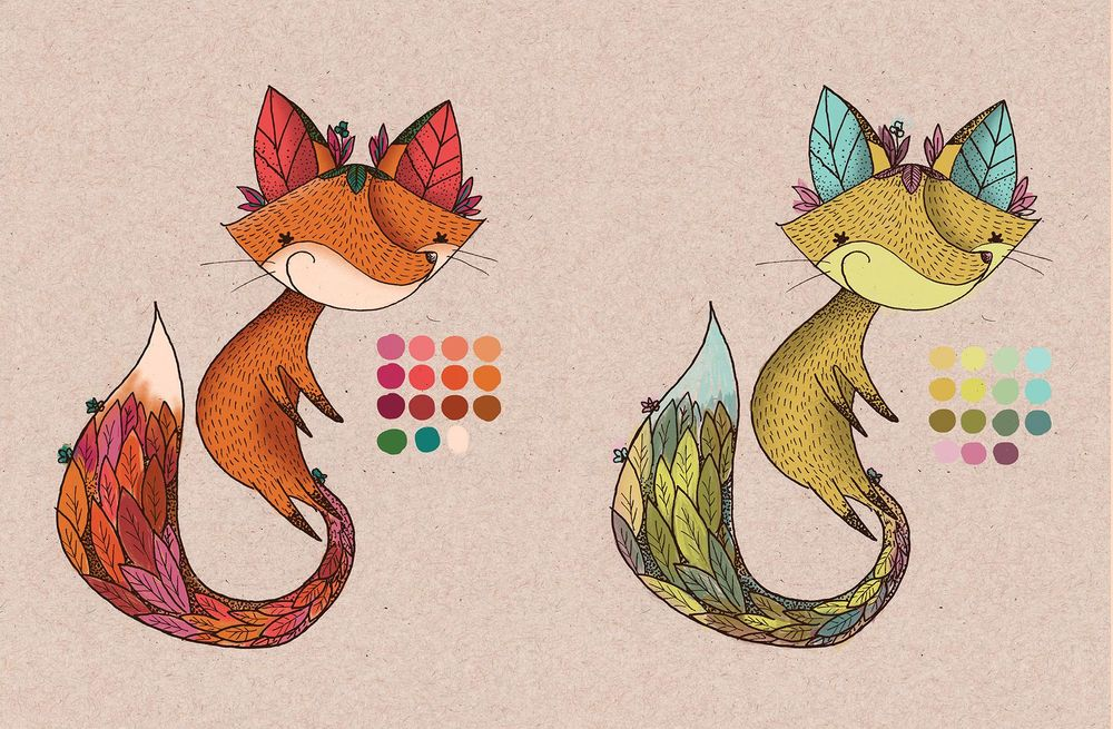 Forest fox color - image 2 - student project