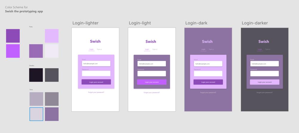 Color Scheme for UI Design - image 1 - student project
