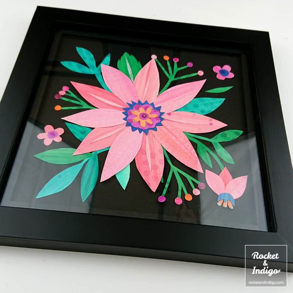 Pink Flower Collage (example project) - image 3 - student project
