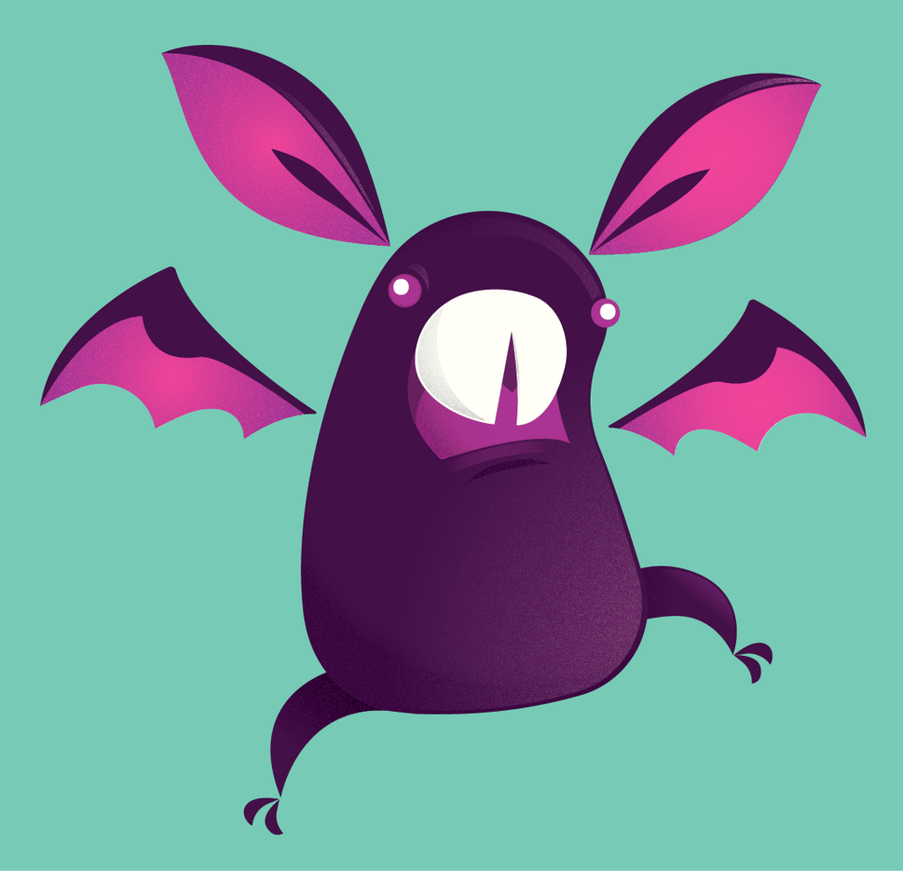 Bucky the Bat, Now With Gradients! - image 1 - student project