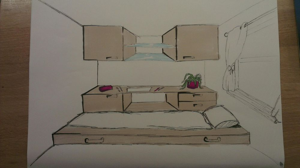 Bedroom design / industrial design - image 2 - student project