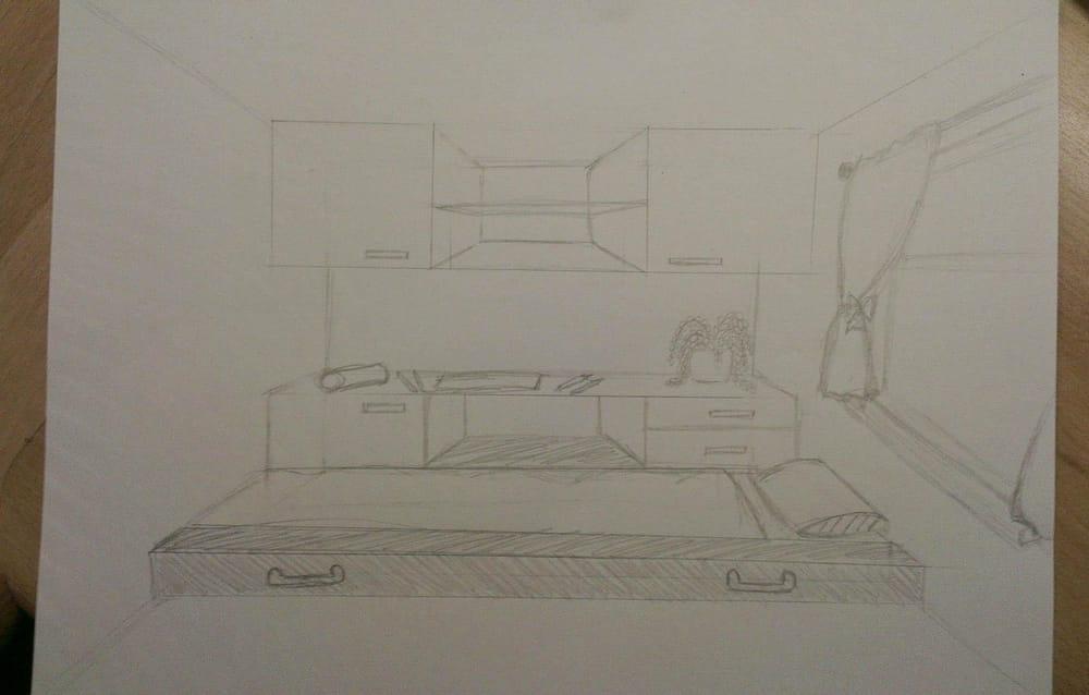 Bedroom design / industrial design - image 1 - student project