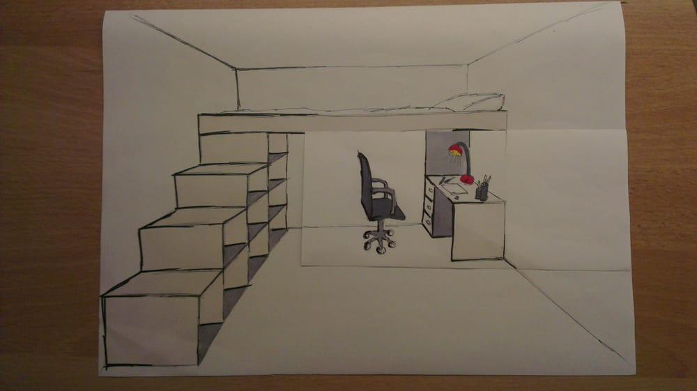 Bedroom design / industrial design - image 6 - student project