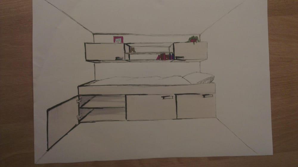Bedroom design / industrial design - image 4 - student project