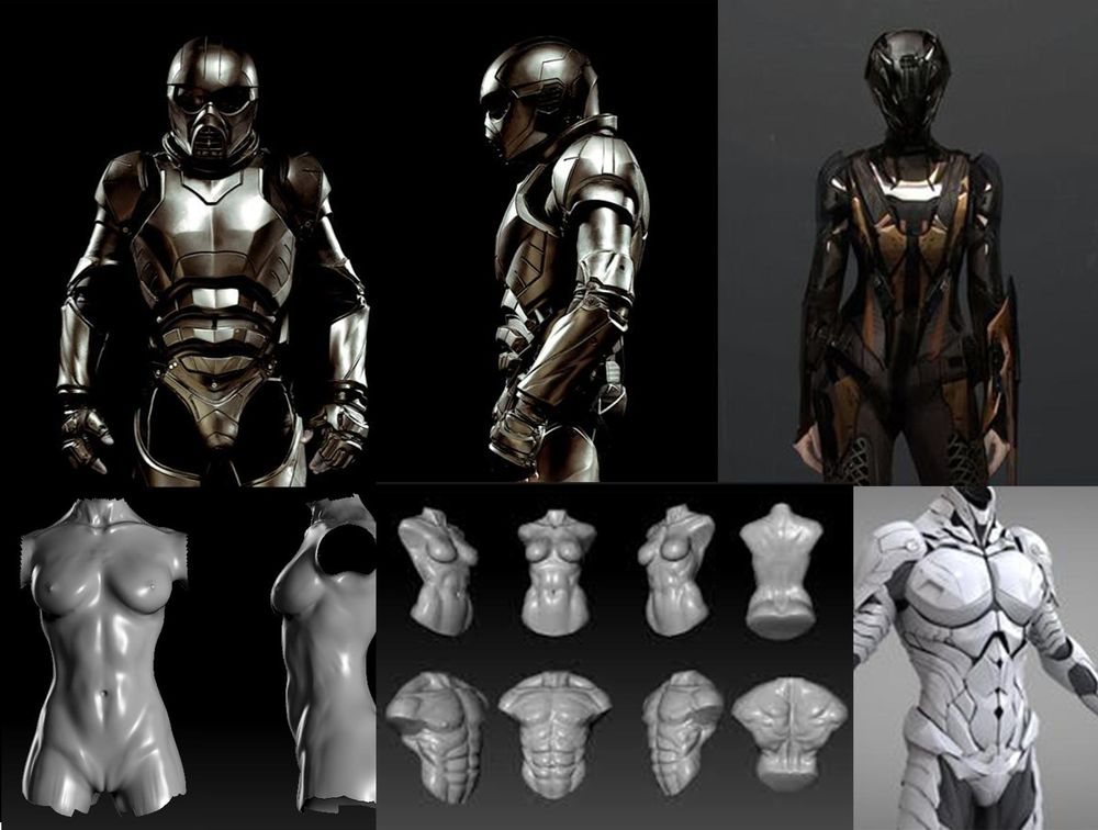 Battle armour - image 1 - student project