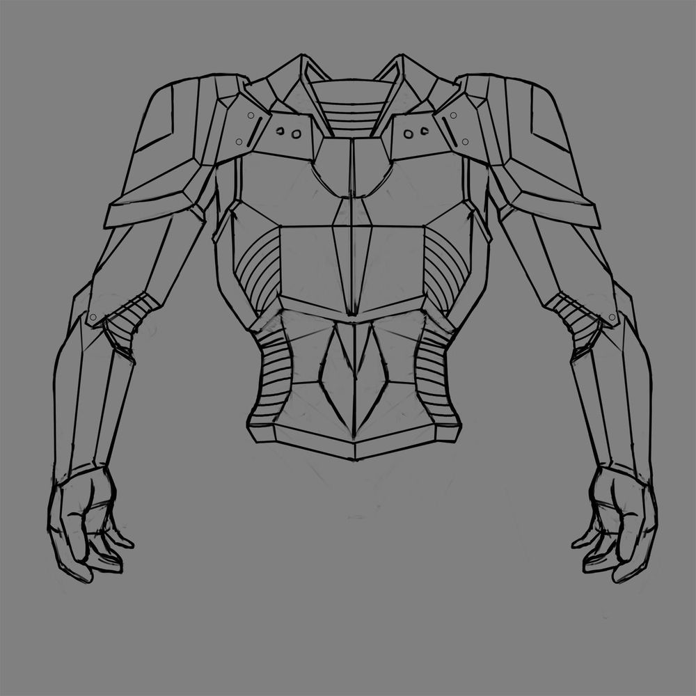 Battle armour - image 3 - student project