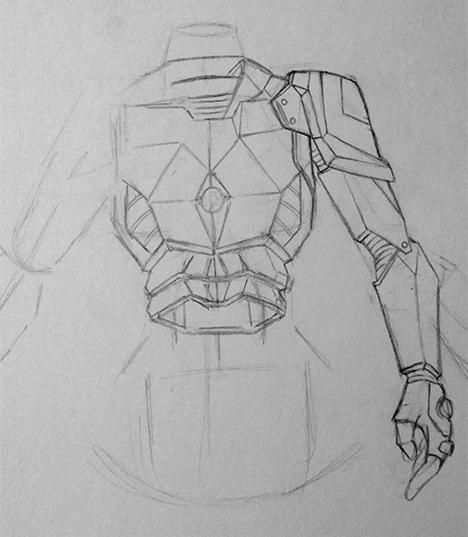 Battle armour - image 2 - student project