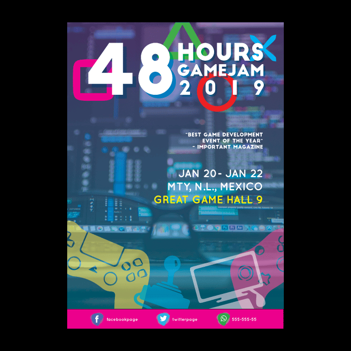 Game Jam Poster Layout Design - image 5 - student project