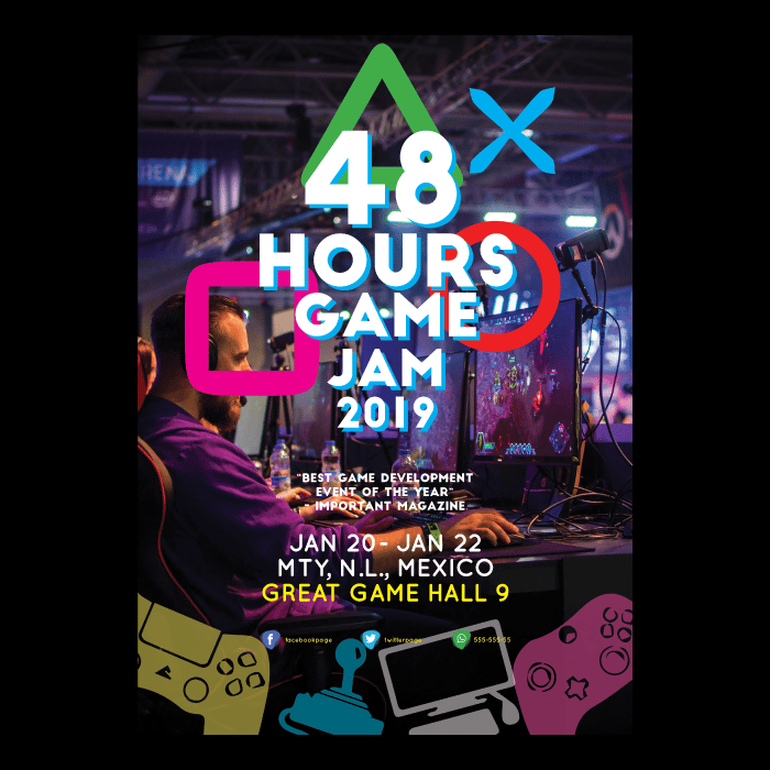 Game Jam Poster Layout Design - image 4 - student project