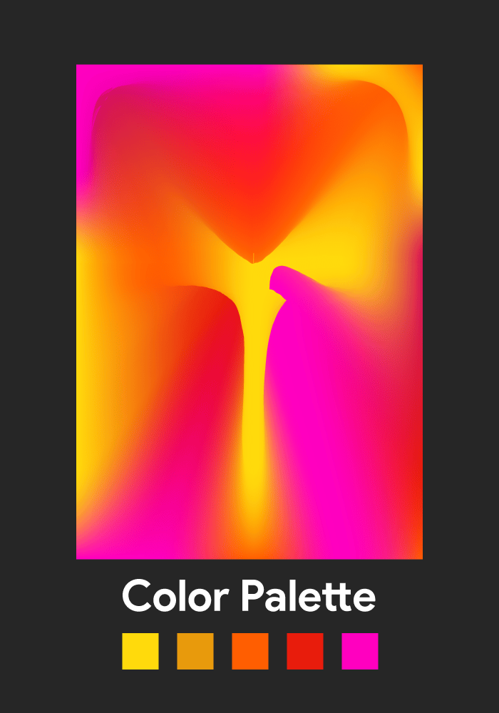 """""""Entropy"""" Experimental Gradient Poster - image 1 - student project"""