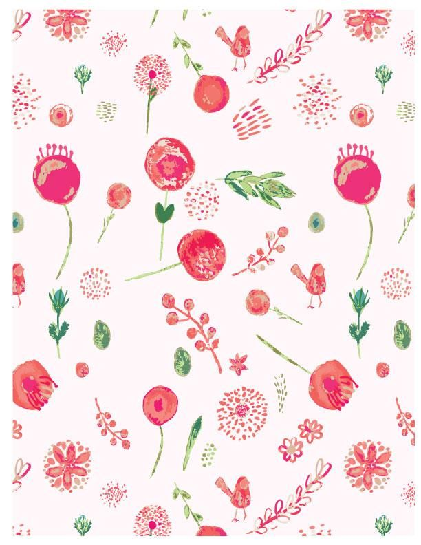 Watercolour for Surface Pattern Design - image 1 - student project