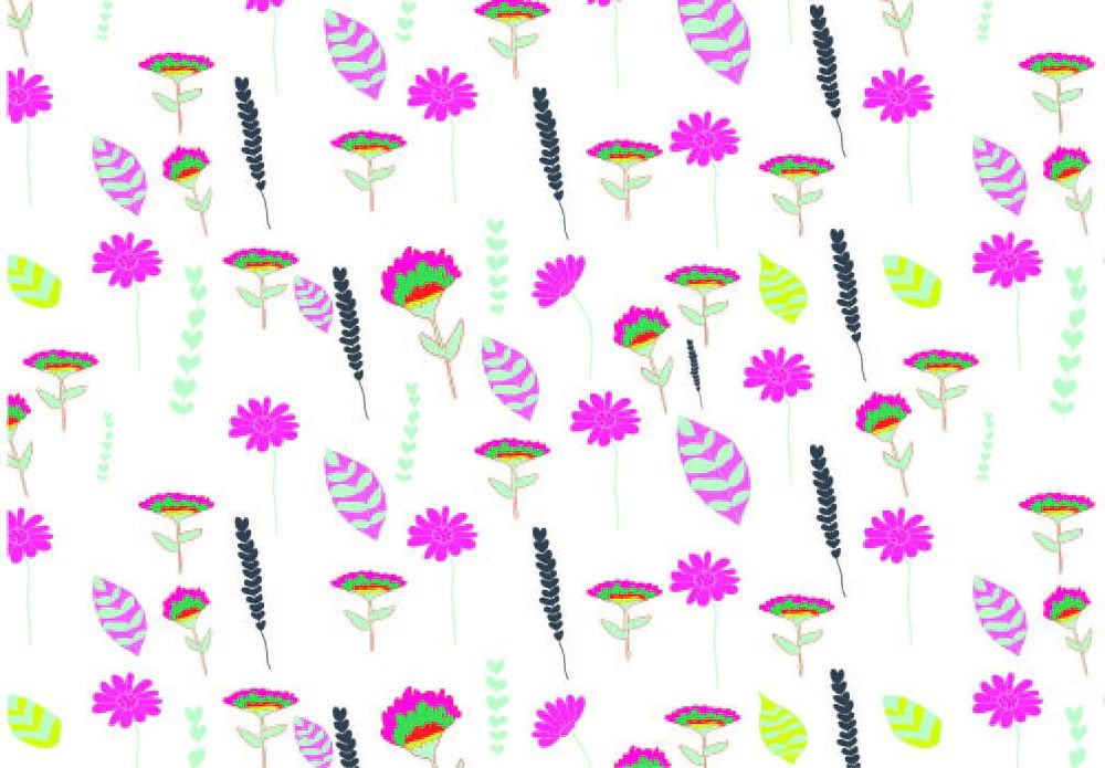 Watercolour for Surface Pattern Design - image 5 - student project