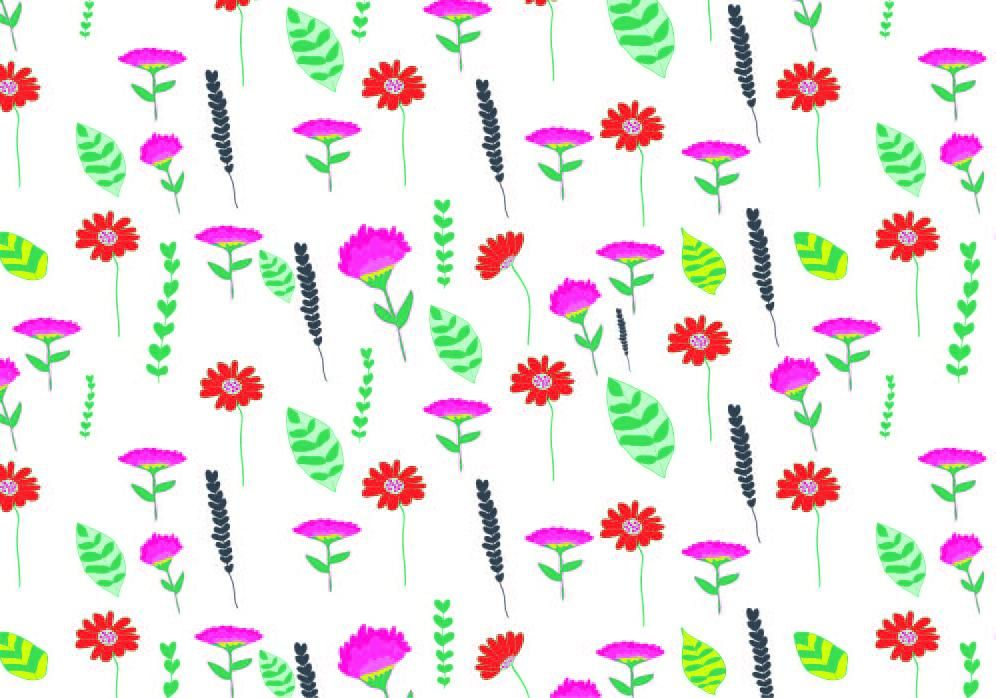 Watercolour for Surface Pattern Design - image 6 - student project