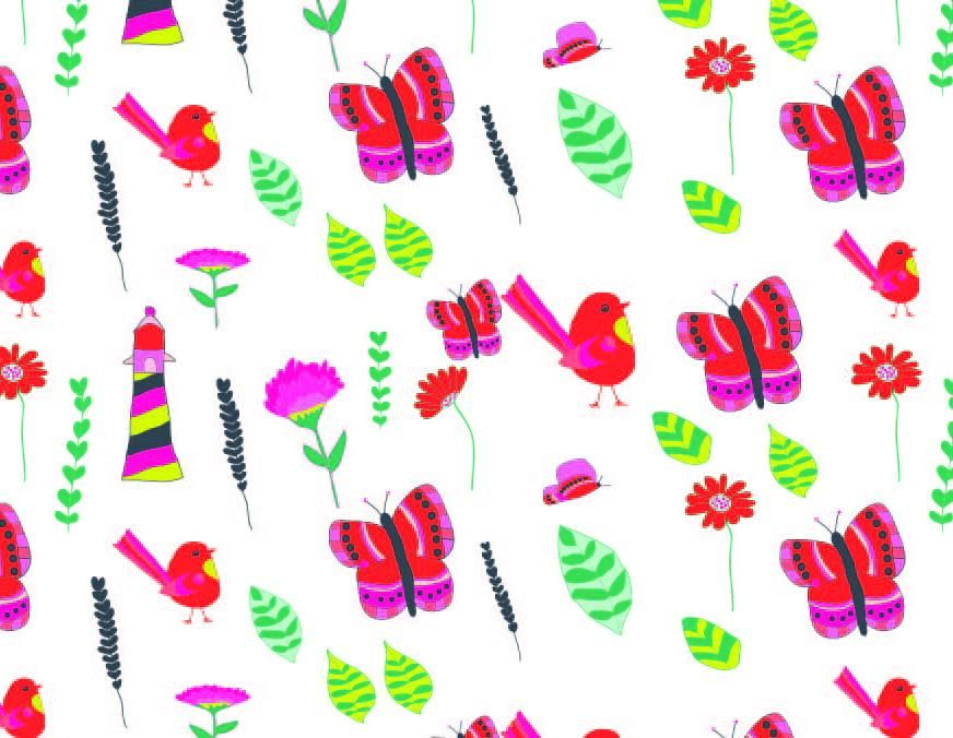 Watercolour for Surface Pattern Design - image 7 - student project