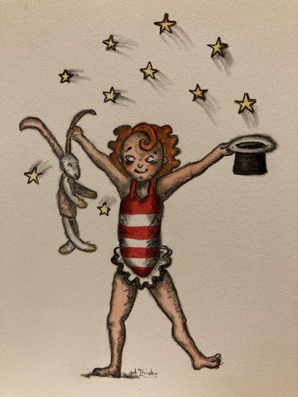 Watercolour magic: circus girl 5 ways! - image 5 - student project