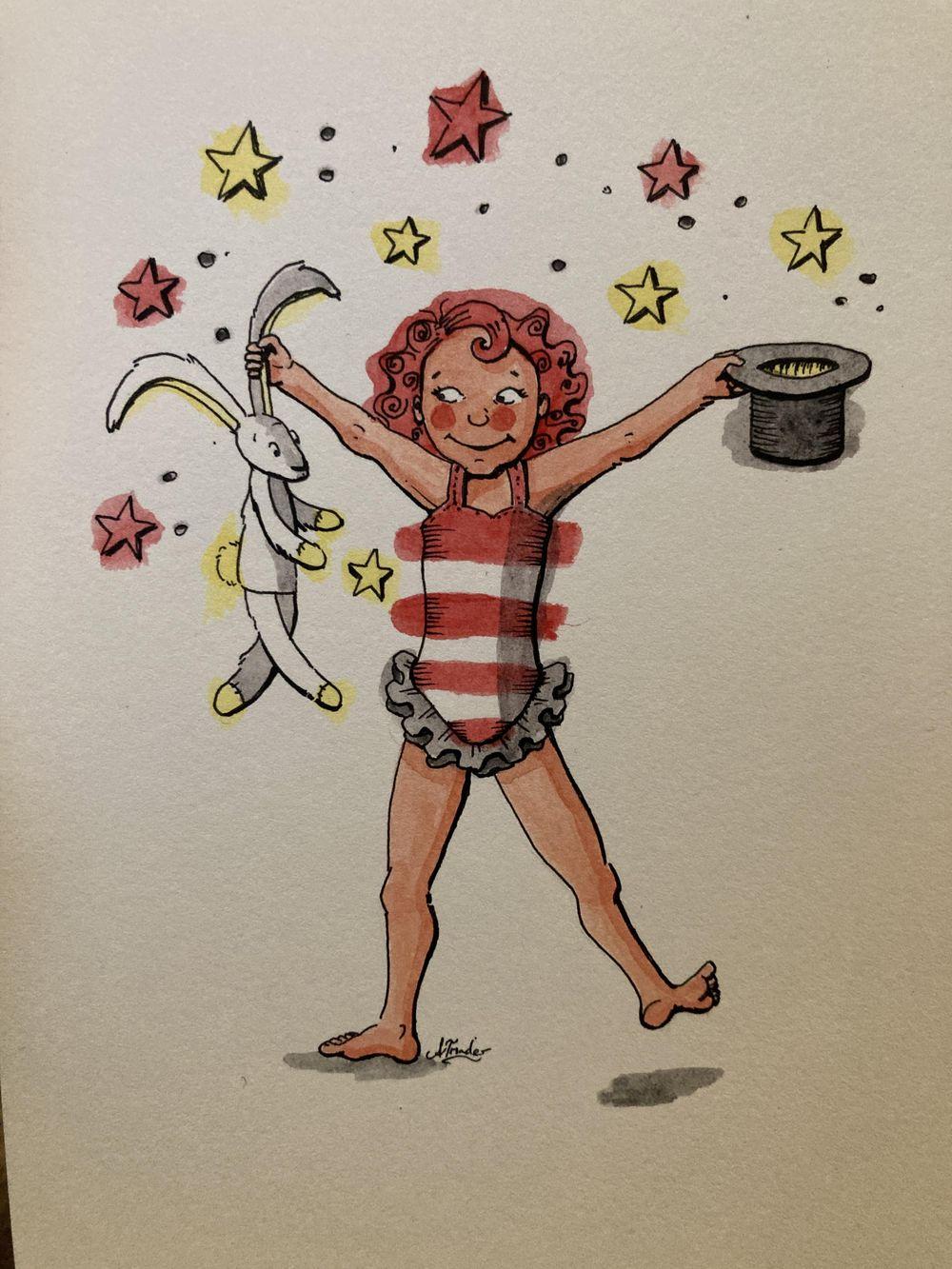 Watercolour magic: circus girl 5 ways! - image 4 - student project