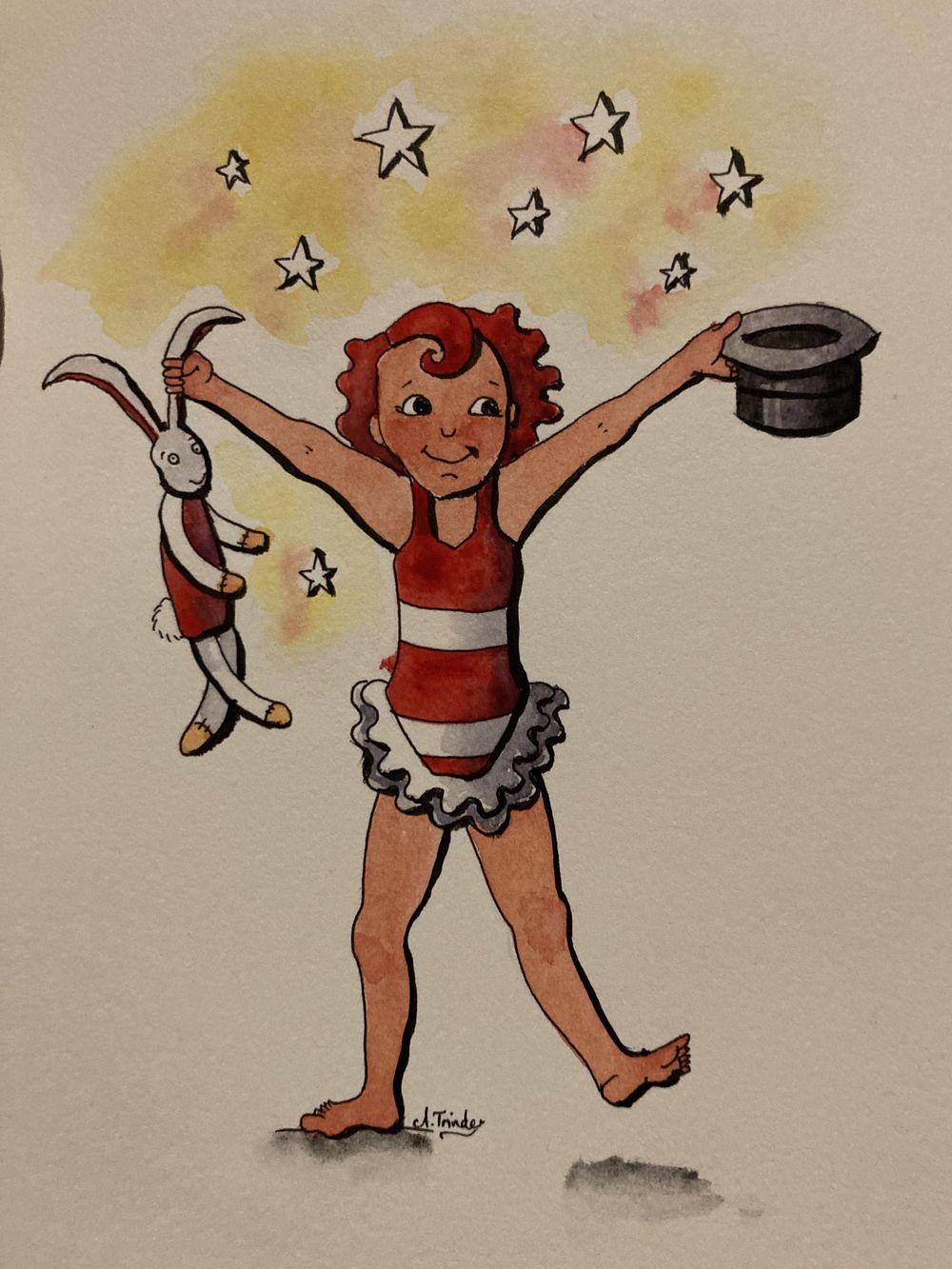 Watercolour magic: circus girl 5 ways! - image 2 - student project