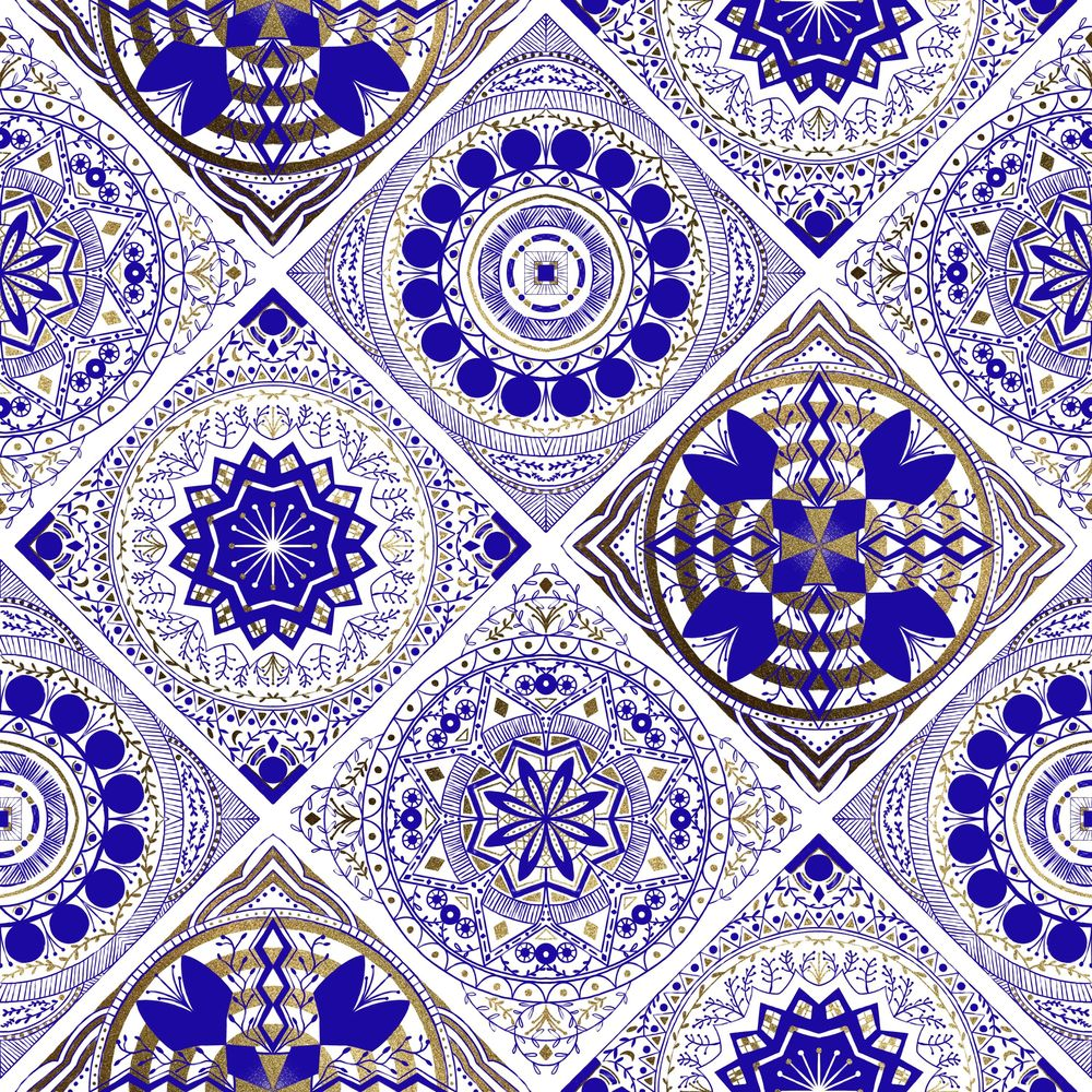 Blue and Gold tiles - image 1 - student project