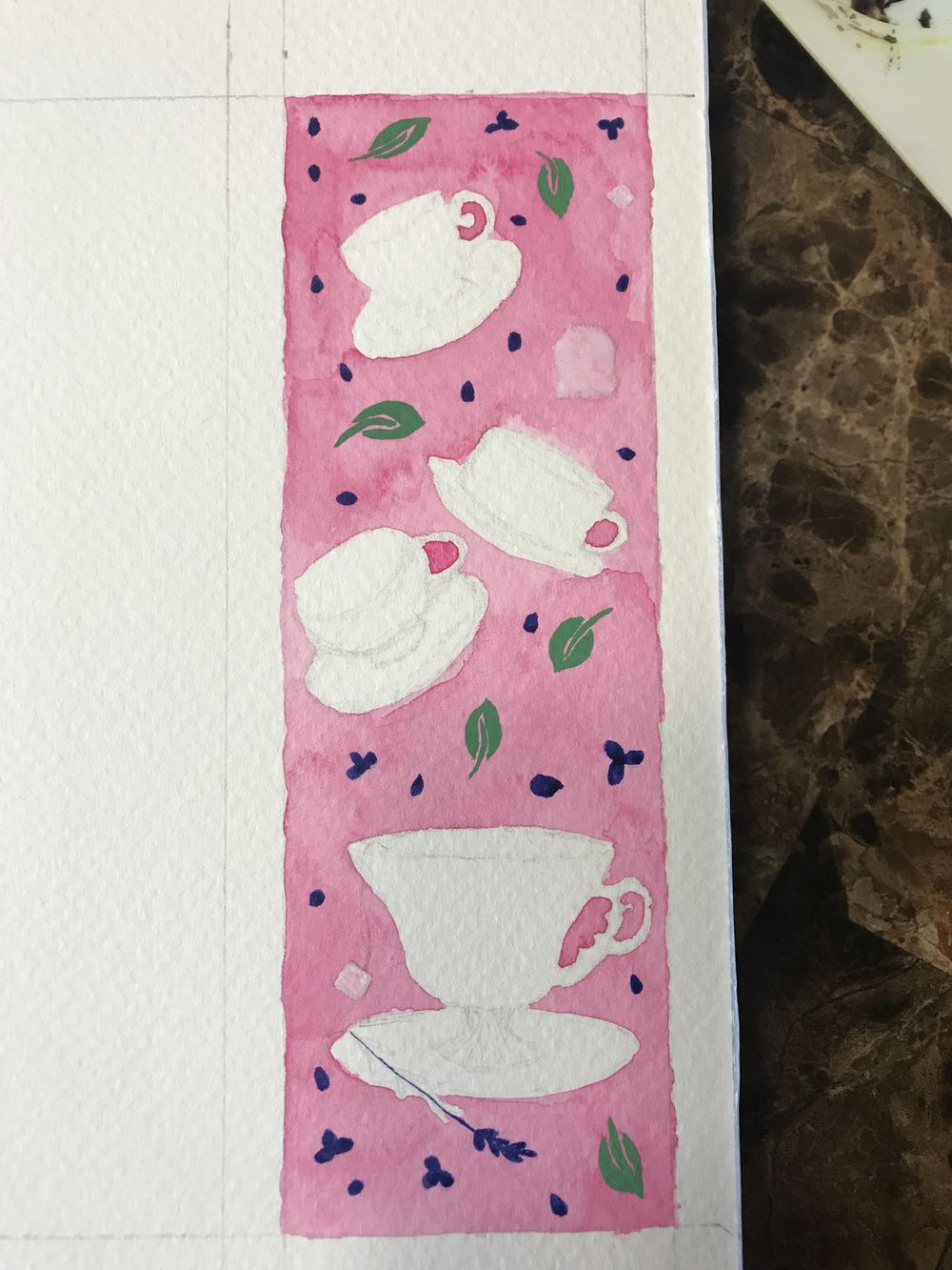Teacups bookmark - image 3 - student project