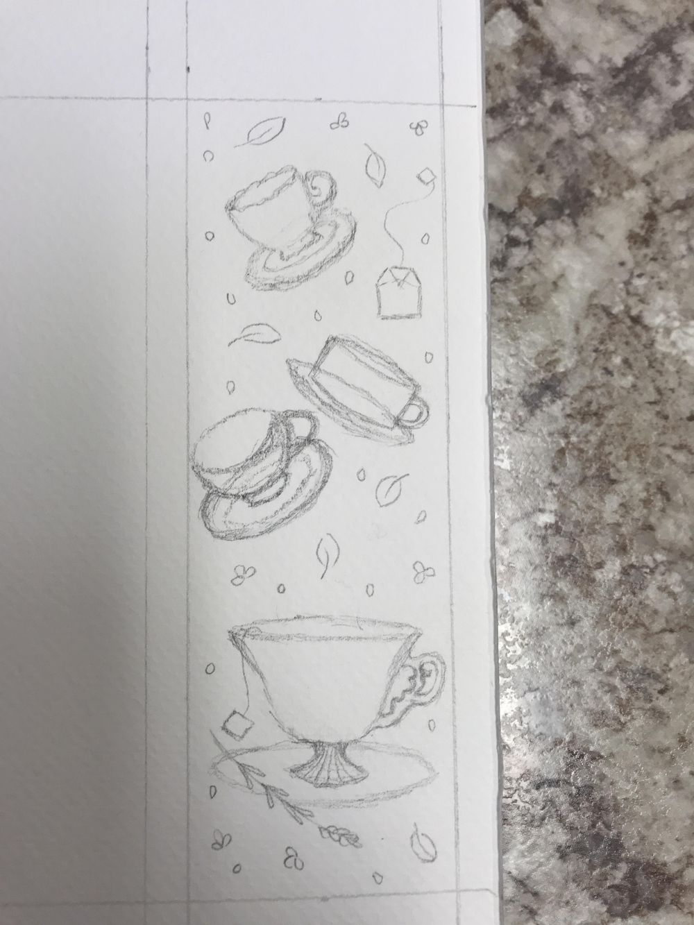 Teacups bookmark - image 2 - student project
