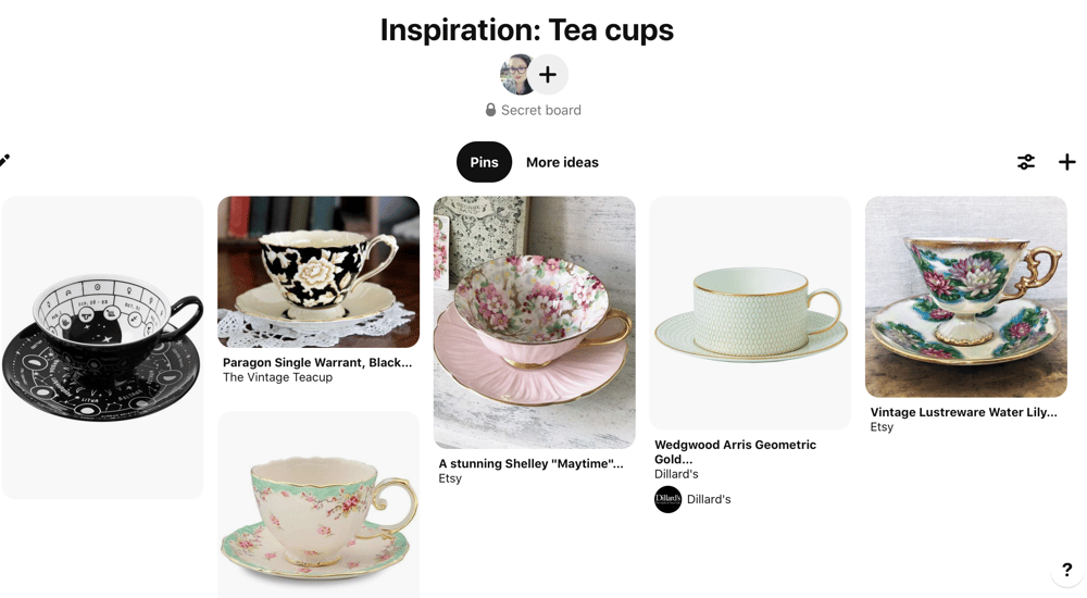 Teacups bookmark - image 1 - student project