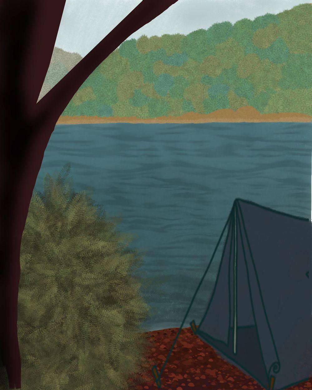 Camp scene - image 1 - student project
