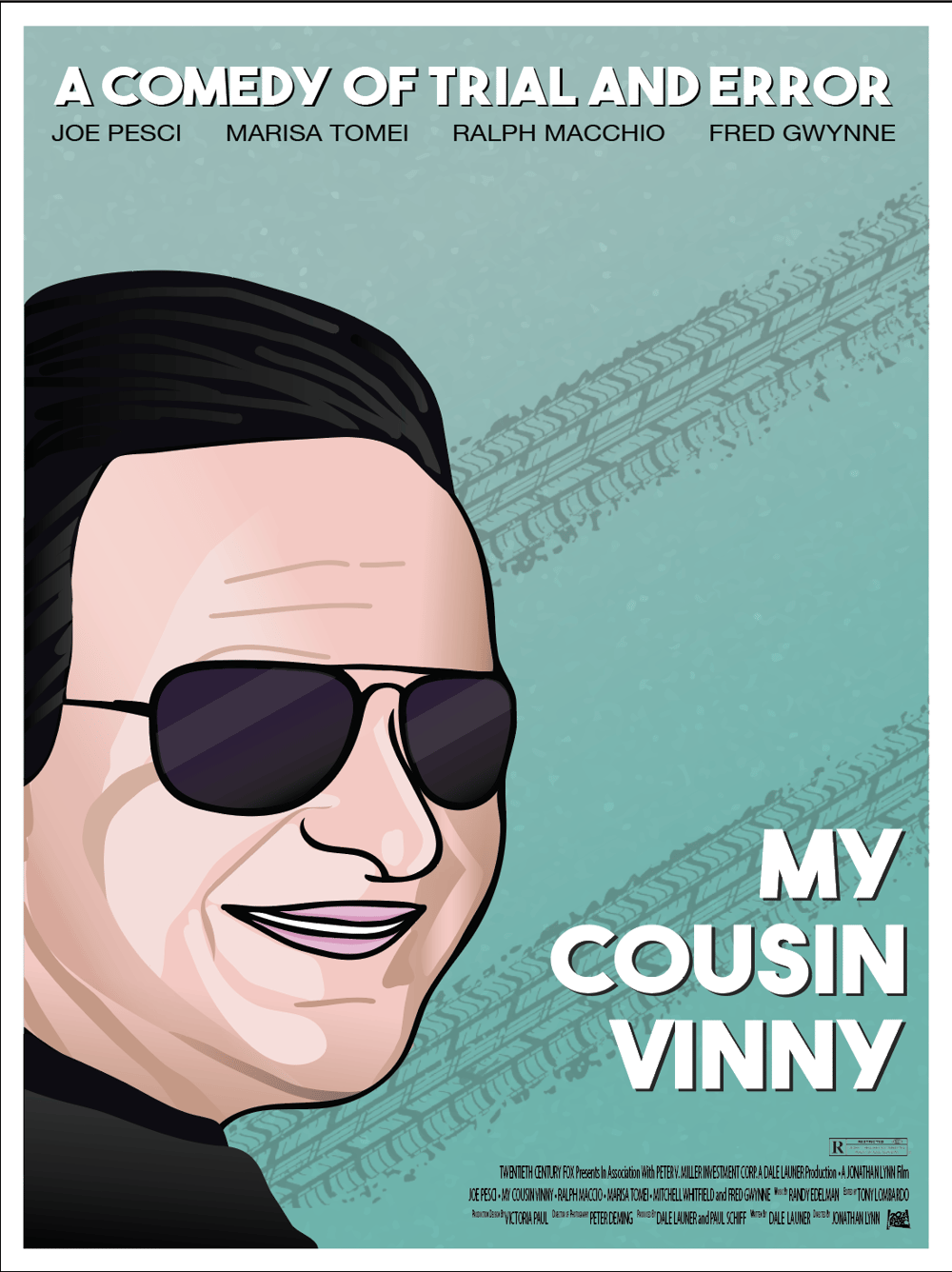Retro Movie Poster - My Cousin Vinny - image 1 - student project