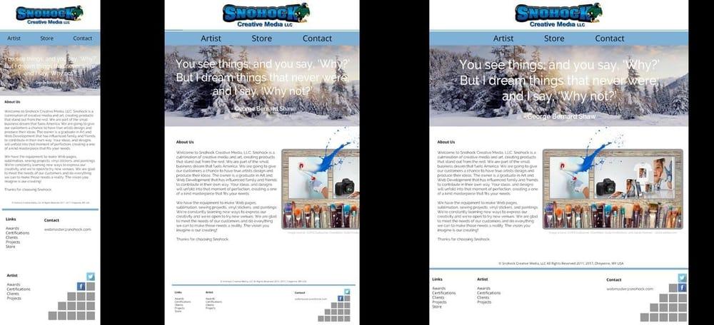 Website Redesign Snohock Creative Media LLC - image 1 - student project