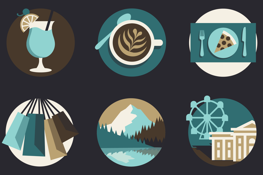 Travel Guide Icons - image 9 - student project