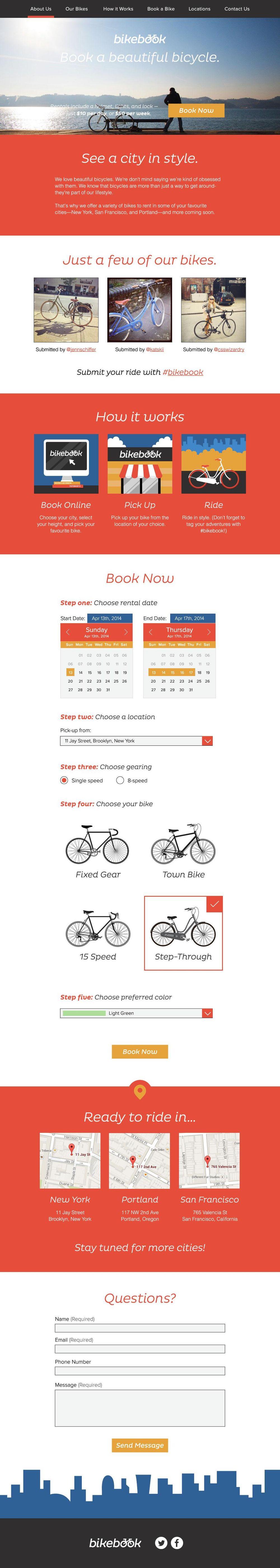 BikeBook Website - image 2 - student project