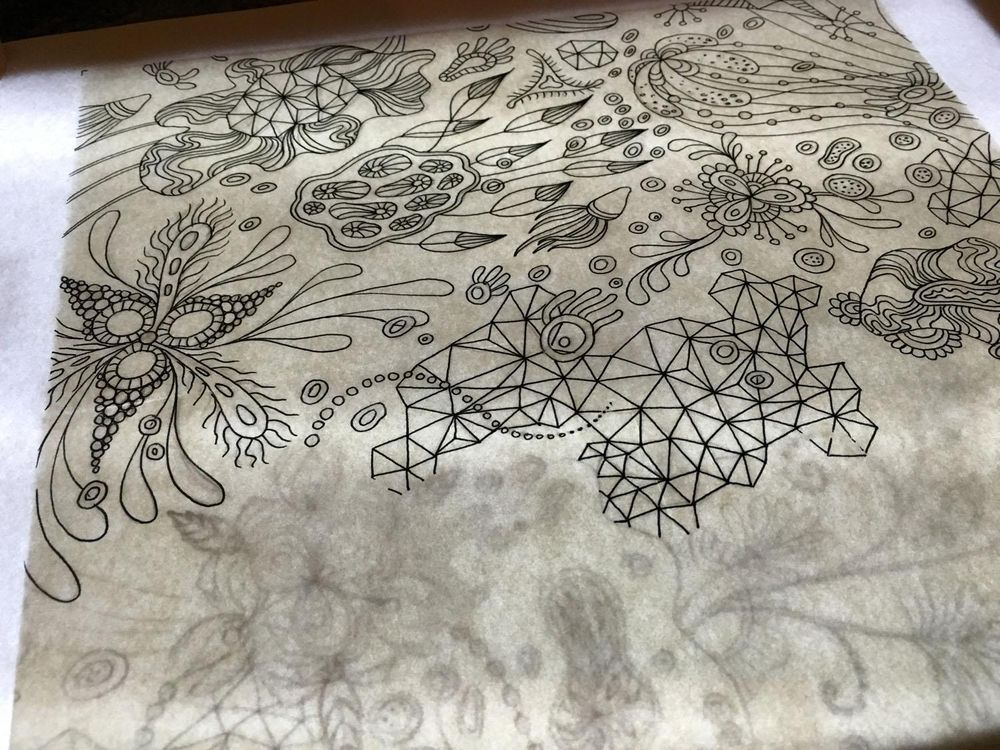 """Botanical Triangulation"" Pattern - image 2 - student project"