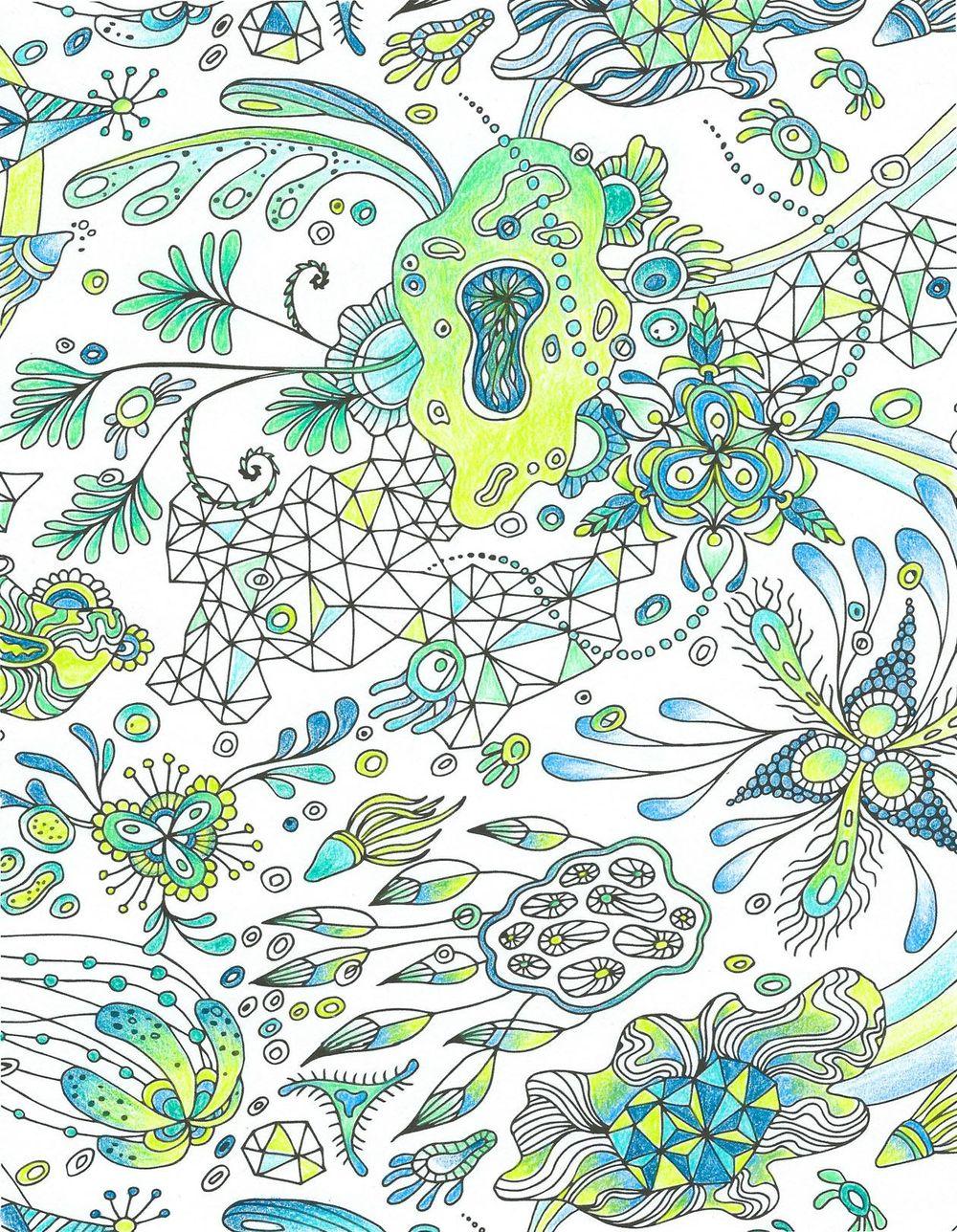 """Botanical Triangulation"" Pattern - image 5 - student project"