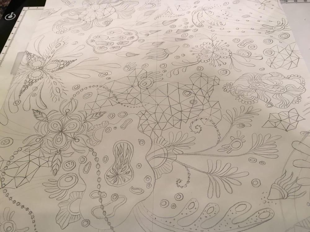 """Botanical Triangulation"" Pattern - image 1 - student project"
