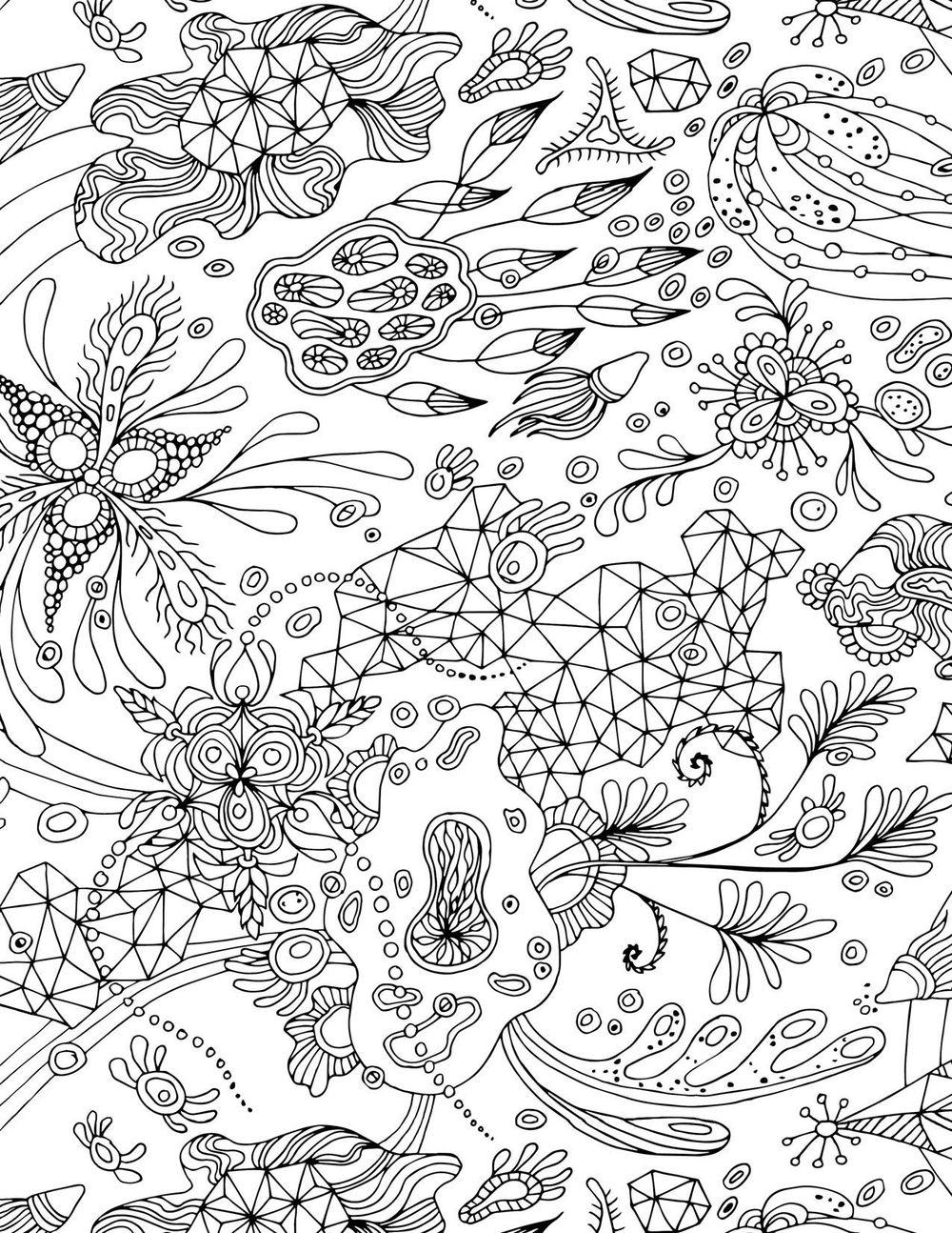 """Botanical Triangulation"" Pattern - image 4 - student project"