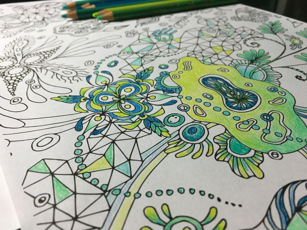 """Botanical Triangulation"" Pattern - image 7 - student project"
