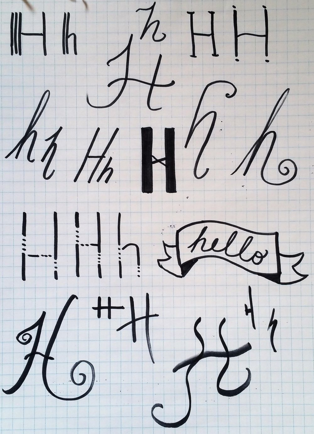 H's to discover unique hand-lettering style - image 1 - student project