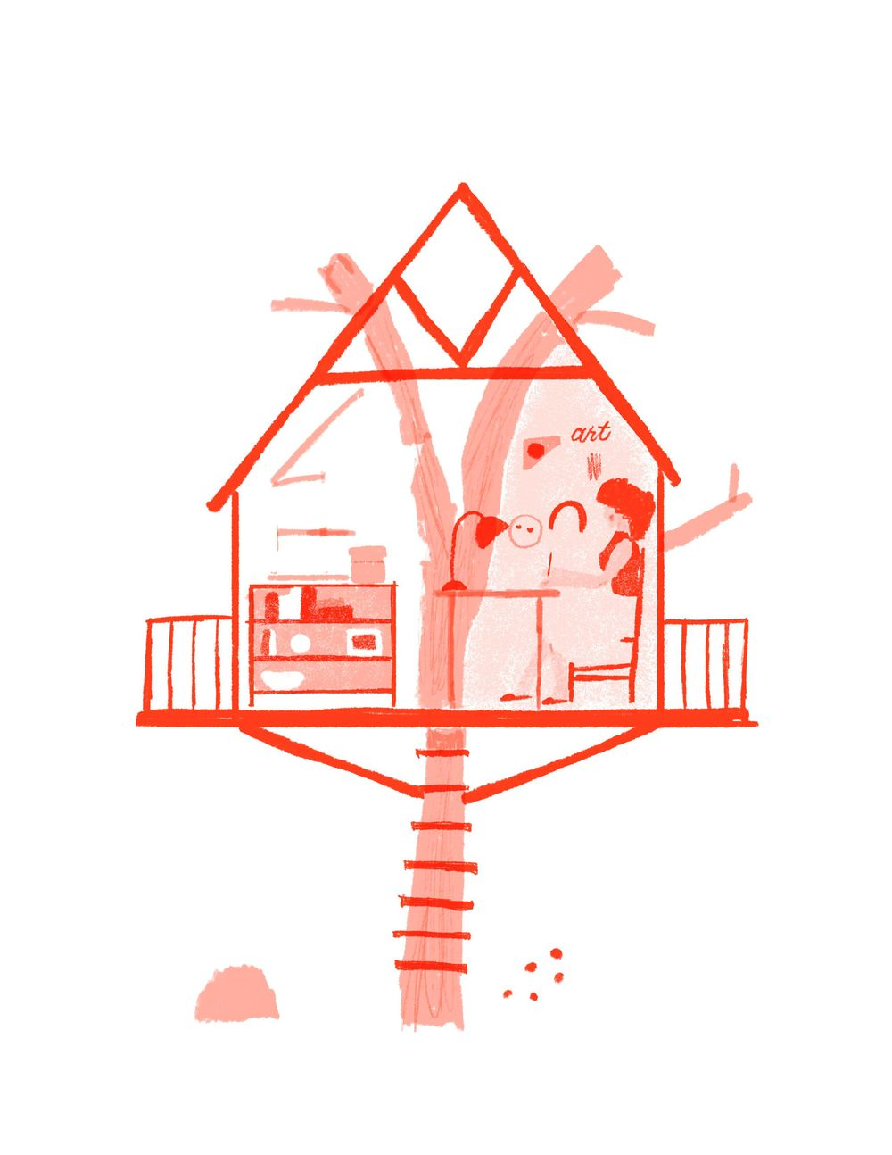 My dream studio: A Tree House - image 3 - student project