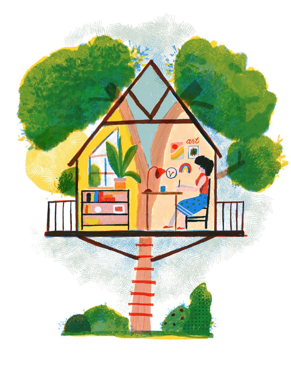 My dream studio: A Tree House - image 5 - student project