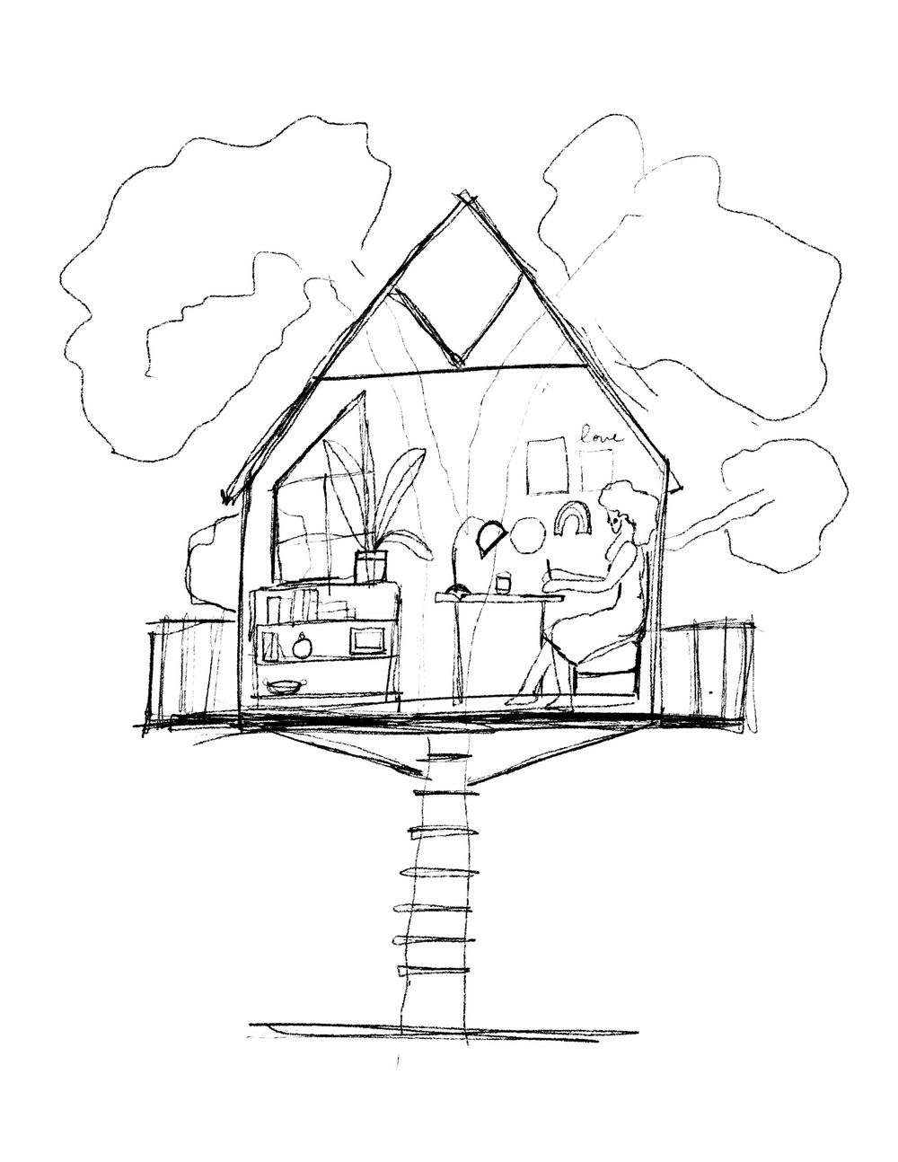 My dream studio: A Tree House - image 1 - student project