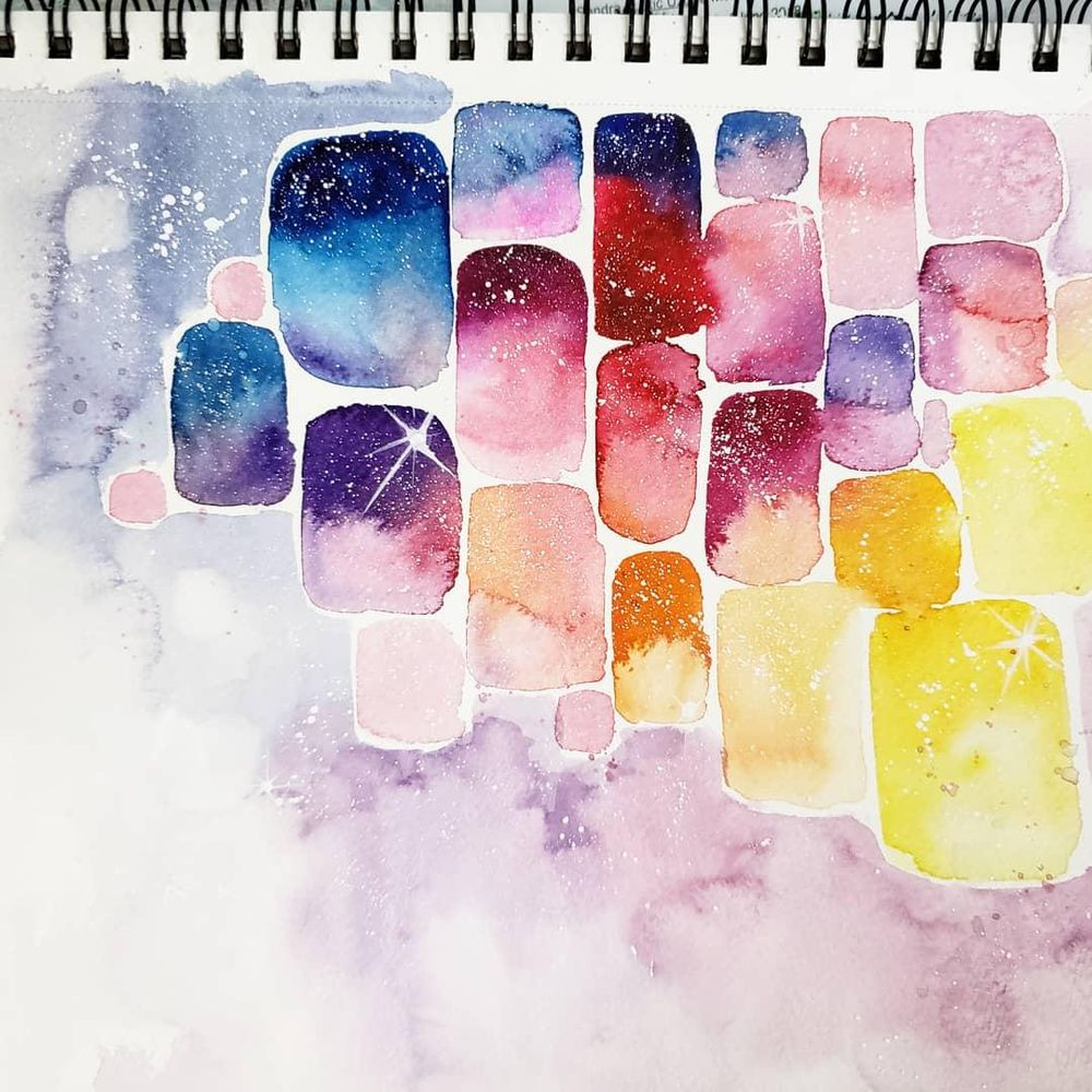 Abstract Watercolor Galaxy - image 1 - student project