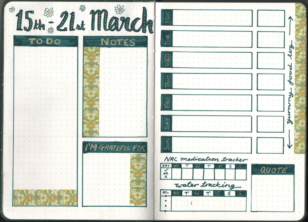 Colourful Weekly Spread - image 1 - student project