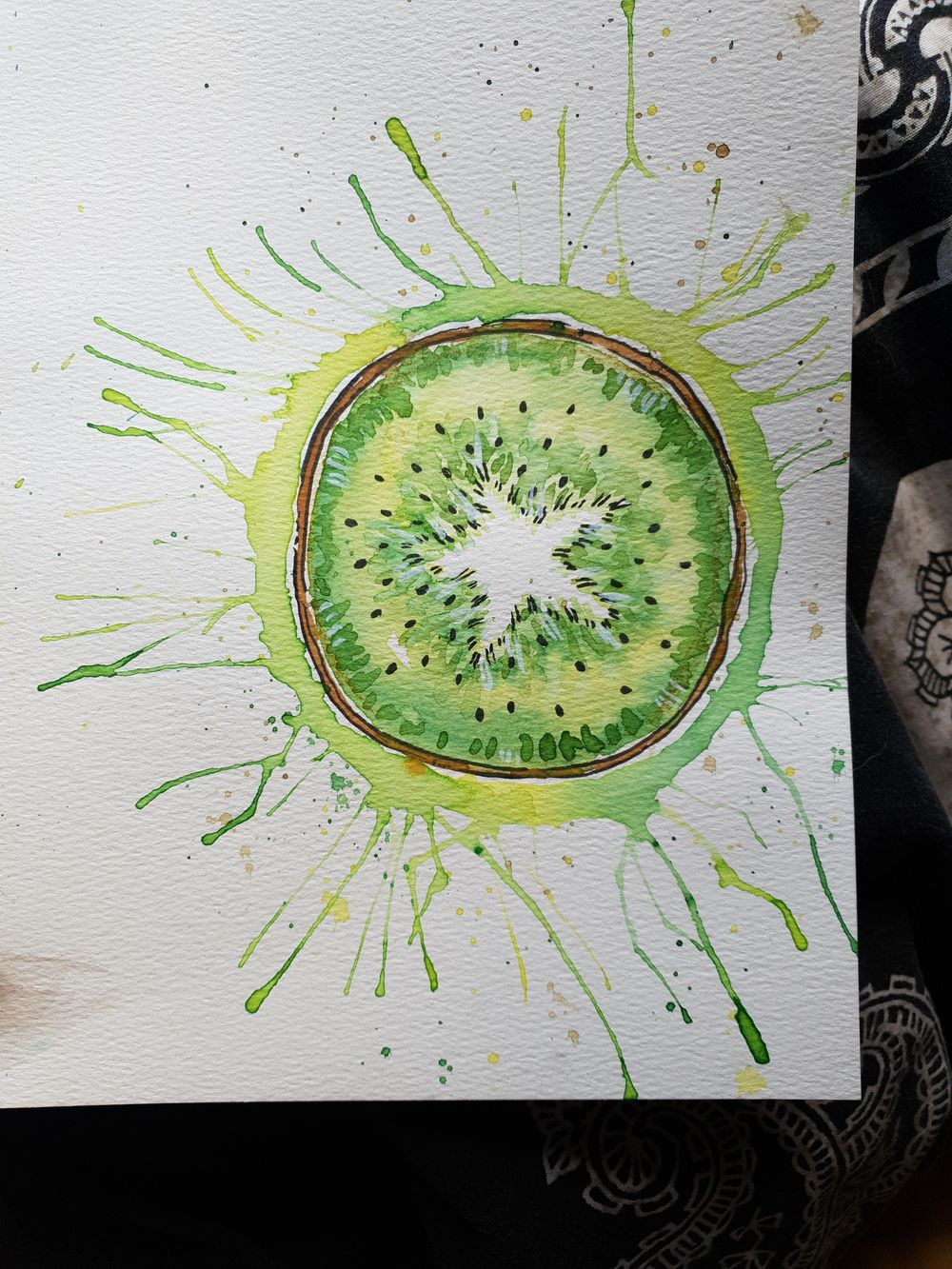Watercolour and ink - image 3 - student project