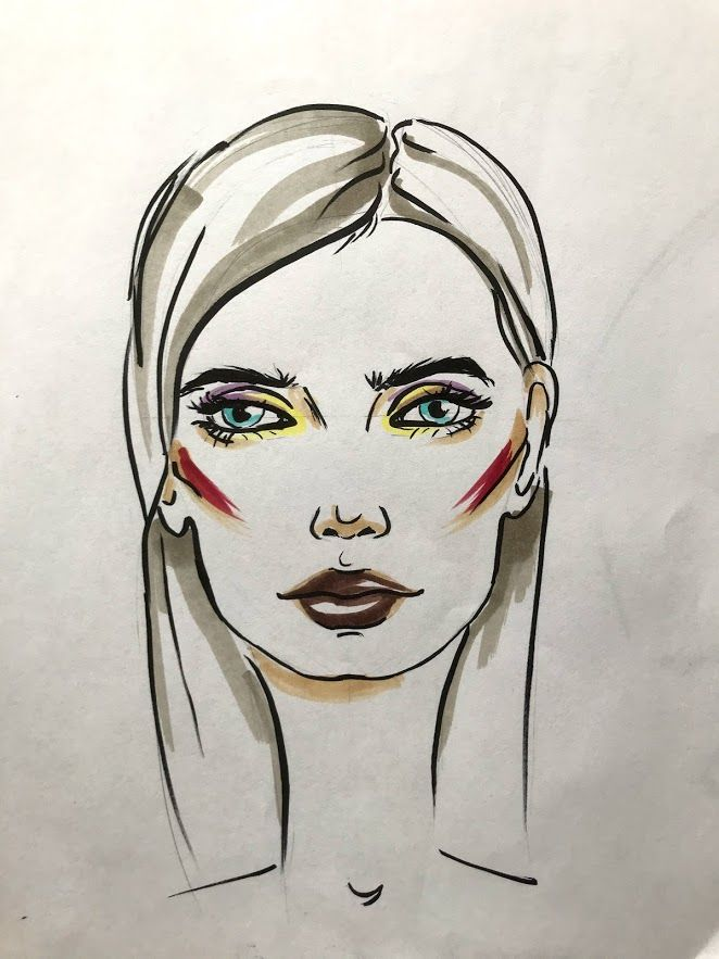 Fashion portrait Markers - image 2 - student project